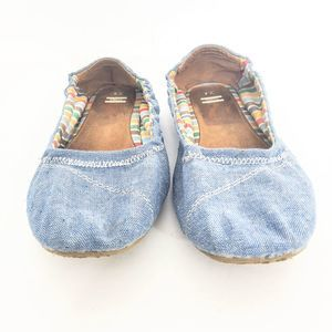 Toms Chambray Canvas Shoes Size Y4